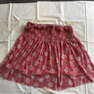 Max Studio A-line floral mini skirt - Small NWT